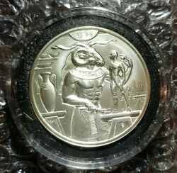 4 Khnum Egyptian Gods Series 2 Ounce High Relief .999 Silver Round Uhr