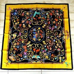 Hermes Scarf Carre 90 Oriental Stone And Western Stonework No.4643