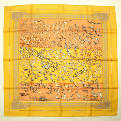 Hermes Scarf Carre 90 Silk Libres Comme L'air The Sky Is Free Duck Bird No.6654