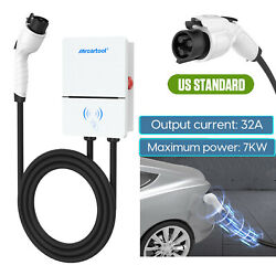 Portable Level 2 Ev Charger 32amp Home Electric Car Charging Cable 110v J1772
