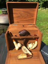 vintage estate meerschaum pipes and humidor