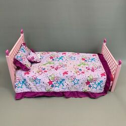 Bfc Ink Best Friends Club Mga Toy Pink Bed With Bedding Set For Dolls