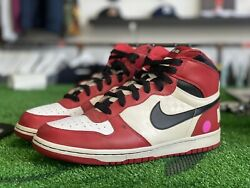 Big Nike High 2009 Spike Lee Chicago Shoes 336608-101 Dunk Mens Size 11.5
