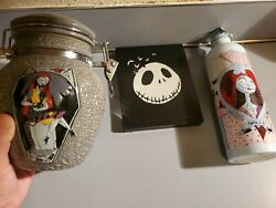 Nightmare Before Christmas Sally Deadly Night Shade Cookie Jar And Thermos+blu-ray