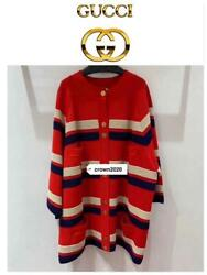 Striped Button Cardigan From Japan Fedex No.9030