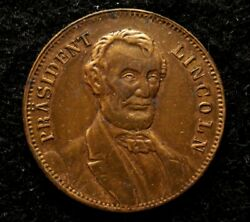1864 Lincoln Presidential Campaign Token Gold Eagle Size