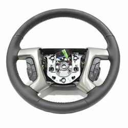 2009 Hummer H2 Oem Black Leather Steering Wheel W/heat And Controls Gm 25995626