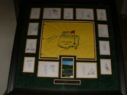 Phil Mickelson,jack Nicklaus +13 Auto,signed 36x36 Masters Display Jsa,psa Certs