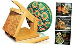 Wooden Tortilla Press Maker - - Tortilla Warmer And Rolling Pin Included 8 Inch