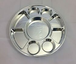 Disposable Plastic Plates 9 Compartment Thali - Silver 800 Pack