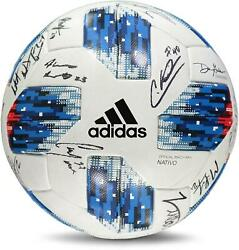 Fc Dallas Signed Mu Soccer Ball From The 2018 Mls Season And 19 Signatures
