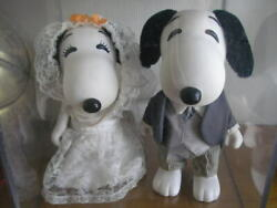 Free Shipping Snoopy Amp Bell Vintage Wedding Doll Peanuts Snoopy Antique Wed