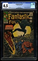 Fantastic Four #52 CGC VG 4.5 Off White 1st Black Panther