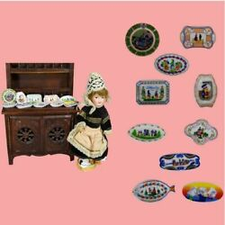 French Doll Size Brittany France Quimper Mini Plates