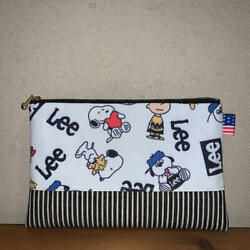 66 Snoopy Flat Pouch Handmade