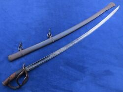Original Antique M1840 Cavalry Sword And Scabbard Solingen Made Kirschbaum And Co