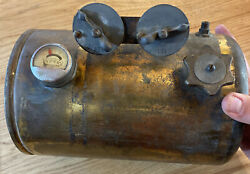 Antique Early 1900s Carbide Generator Brass Appears Complete Headlights 10andrdquo