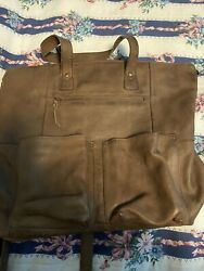 Brown Convertible backpack purse $175.00