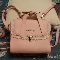 Ank Rouge Pink Lace Ribbon Backpack 26x28cm Vintage Fashion Item From Jp I20038