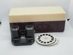 View-master Bakelite Viewer And Library Box And 12 Reel Set Scenic Picture Tours