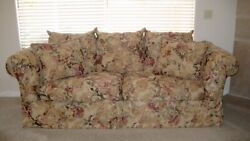 Rowe Custom Sofa Floral Pattern Oversized amp; Comfy 7#x27;8quot; quot;Local Pick Upquot;