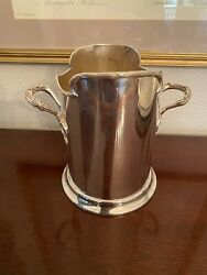 Stunning Antique English Wine Cooler Holder Silverplate James Deakin And Sons