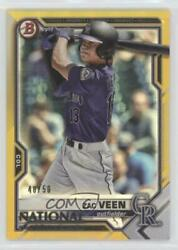 2021 Topps Nscc National Convention Bowman Gold /50 Zac Veen 47