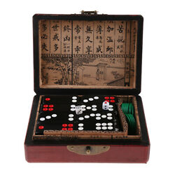 Chinese Antique Gambling Board Game Fun Toy Pai Gow Paigow Dominoes Tile Set