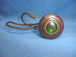 Nos Vintage 1933 1934 Ford Catand039s Eye Lighter Green Lens With Socket Sct14