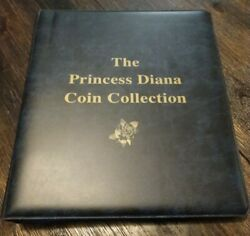 The Princess Diana Coin Collection47 Colored Coins,5 Memorial And Stamp.