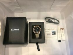 Garmin D2 Delta S Pilot Watch With Beige Leather Band