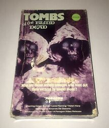 Tombs Of The Blind Dead - Rare Big Box Horror Vhs - Paragon - 1972 - Zombies