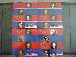 2007-2010 Us Mint Presidential P And D Uncirculated 8-coin Dollar Sets