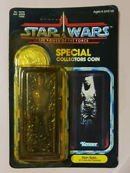Vintage Unpunched Star Wars Power Of The Force Han Solo Carbonite Chamber Figure