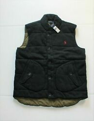 New Polo Men Quilted Warm Down Vest Large L Slim Fit