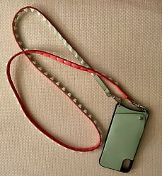 NEW BANDOLIER Crossbody for iPhone X XS Light Green With Strap $69.00