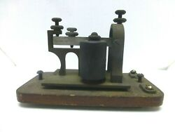 Vintage J.h.bunnell And Co Ny Usa Telegraph Sounder Tested Works - Display/history