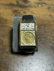 Napoleon Crowning Ceremony 200th Anniversary Quartz Menand039s Watch With Gold Coins