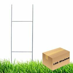 Mtb H Frame Wire Stakes 30 X10-inch Pkg Of 100 9ga Metal -yard Sign Stakes Fo...