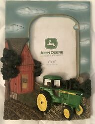 """John Deere Red Barn And Tractor Picture Frame 4""""x6"""""""
