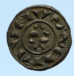 12th Century Medieval Italy Siena City Republic Antique Old Silver Coin I96378