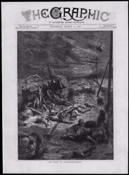 1878 - Antique Print Turkey Constantinople Istanbul Road People Dead   075