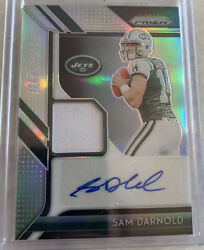 2018 Prizm Sam Darnold Rpa Rc Rookie Patch Auto 77/99 Panthers Nfl Qb Coty