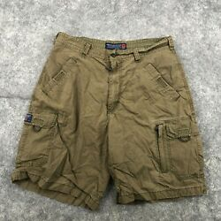Vintage American Eagle Shorts Mens 36 Olive Green Cargo Hiking 10 Inseam