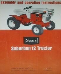 Sears Suburban Ss 12 Lawn Garden Tractor Owners Manual 917.25350 917.25340 12hp