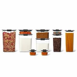 Rubbermaid Brilliance Pantry Organization And Food Storage Containers With Airtigh