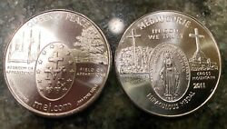 """2011 Medjugorje 1oz. .999 Silver """"queen Of Peace"""" Medal - 1 Set Of 20 Coins Each"""