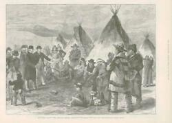 1890 - Antique Print America North American Indians Reserves  075