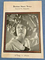 Boston Store News May 1924 Concord Nh Department Store Womens Mens Fashion House