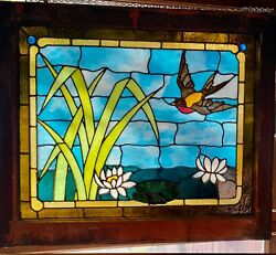 Exceptional Bird In Flight Stained Glass Window